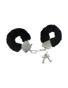 Caught In Candy Velvet Handcuffs - Black