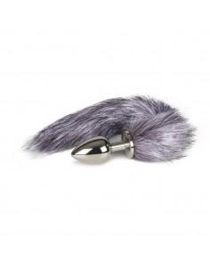 Fox Tail Plug - Sølv - Large
