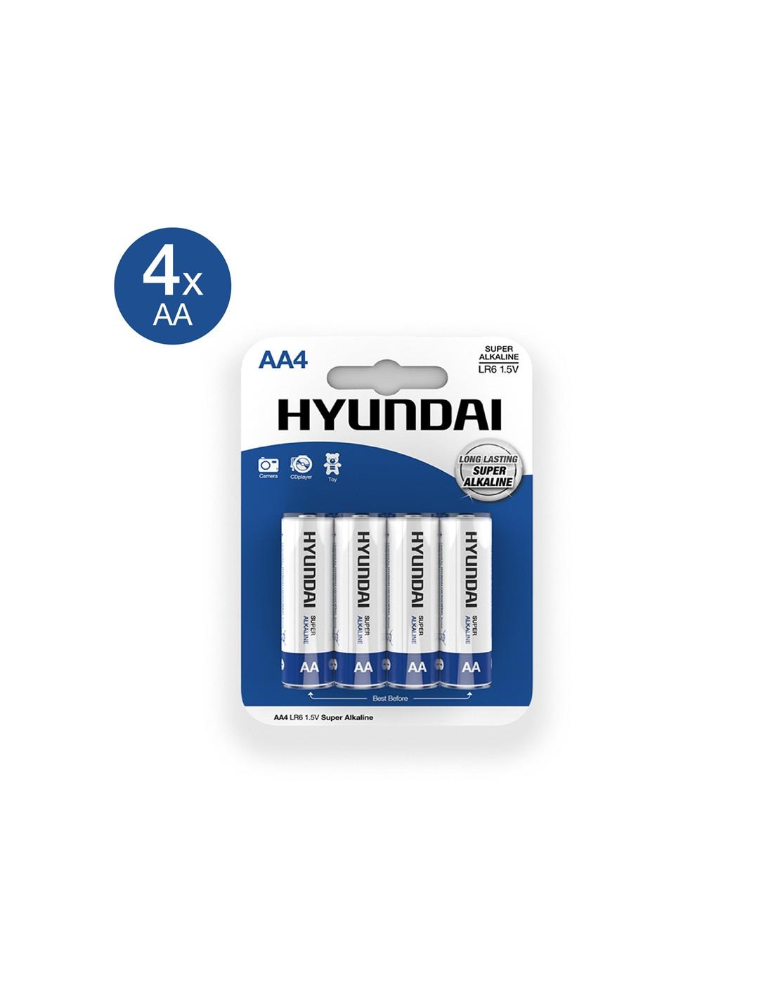 Super Alkaline AA Batterier - 4 stk