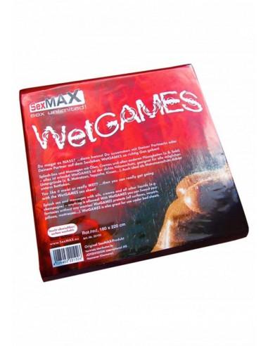 SexMAX WetGAMES Vinyl Sheet 180 x 220 cm - Red