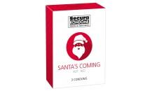 Santa's Coming pack of 3