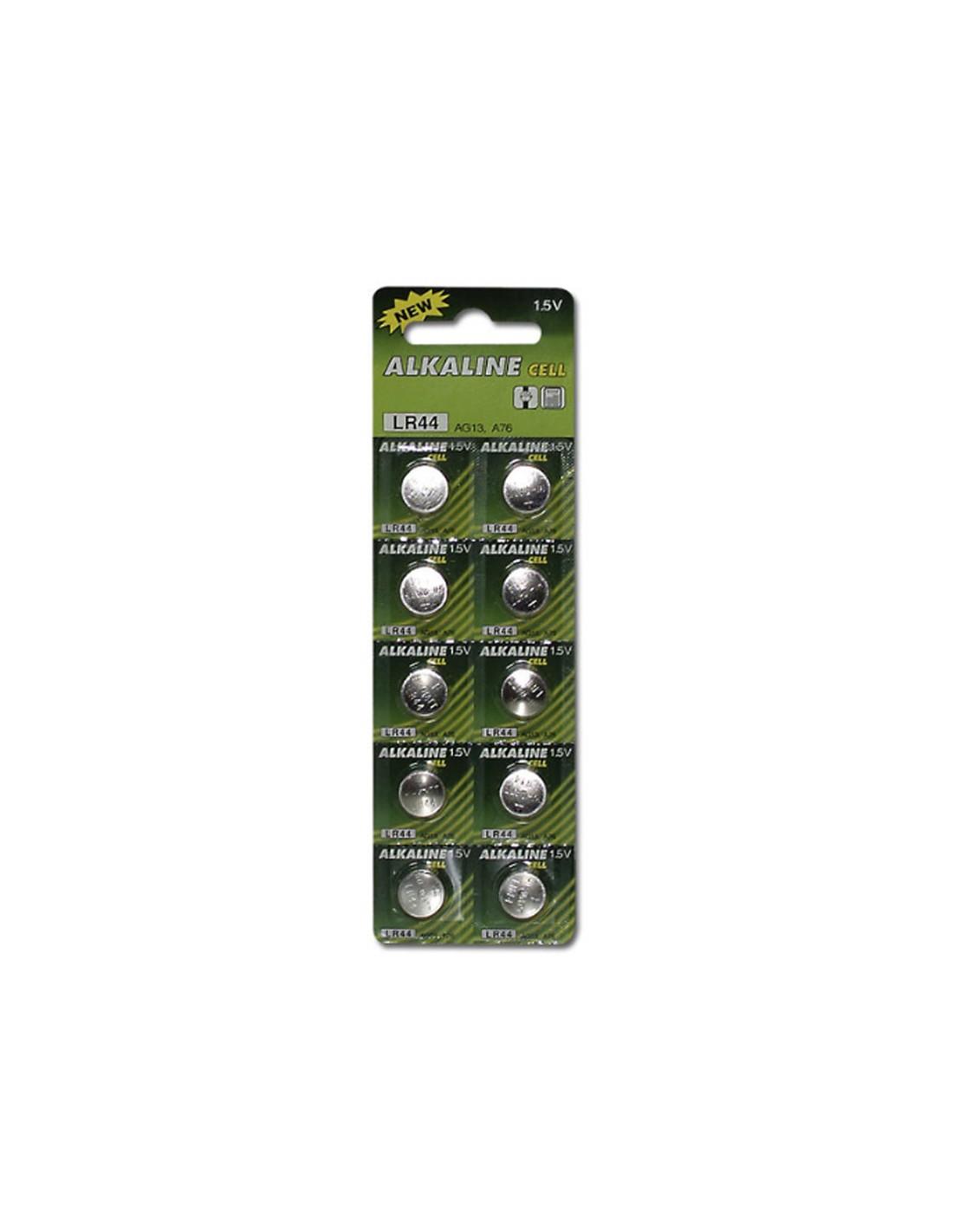 Knapcelle Batterier LR 44 10-Pak